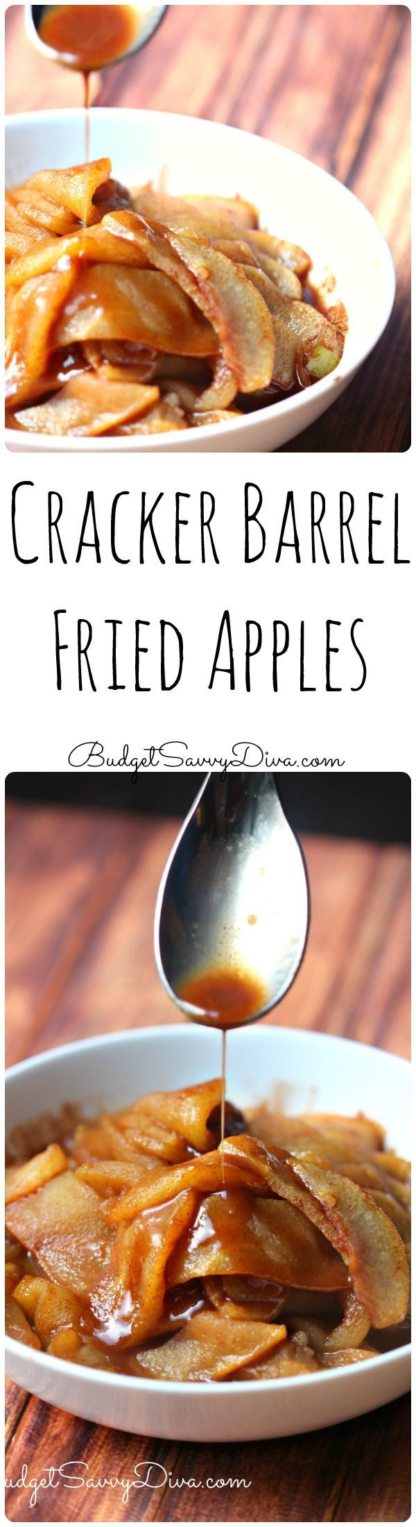 Copy Cat Recipe! Cracker Barrel Copy Cat Recipe! Gluten Free and SUPER easy to make - very frugal - 6 servings for about $5 - Must Make - Cracker Barrel Fried Apples Recipe