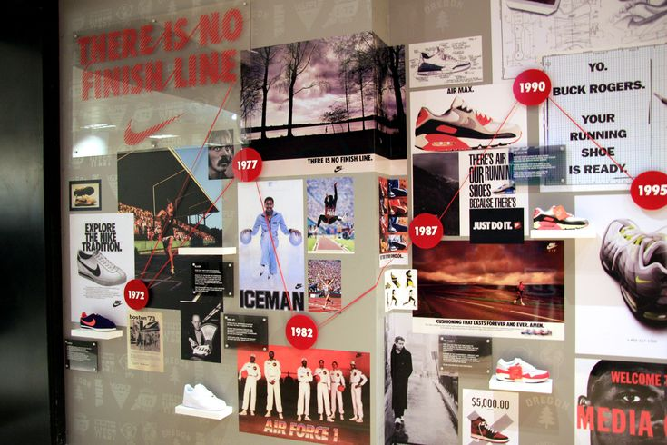 The product and heritage infused timeline wall we created for Nike and Offspring Shoes at the Selfridges Shoe Carnival...
