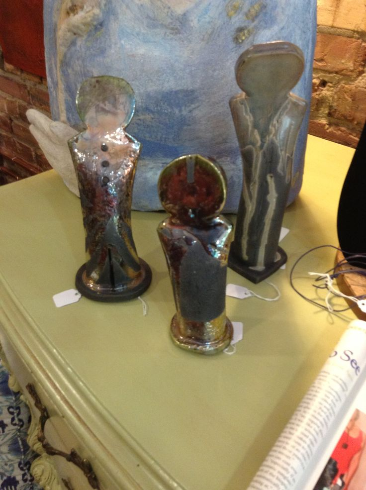 "More Raku from Billie. These pieces are called ""family"". $48 each for smaller forms and $58 for the larger size. We ship!"