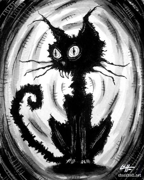 cute spooky cat art' - Google Search