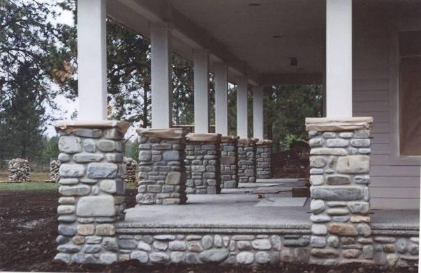 Outdoor Stone Pillars : Best images about pergolas stone columns on pinterest