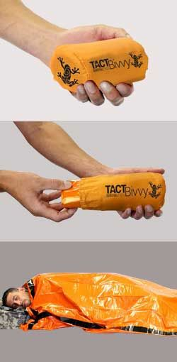The TACT Bivvy is one of the most advanced survival tools on the planet.