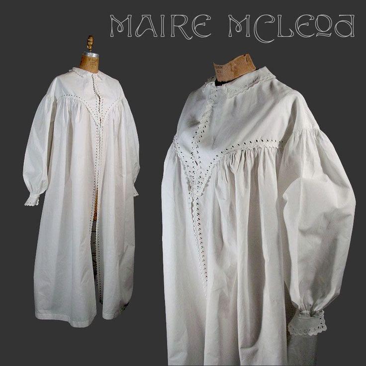 best victorian nightwear images victorian 1860 s dressing gown civil war era grt details