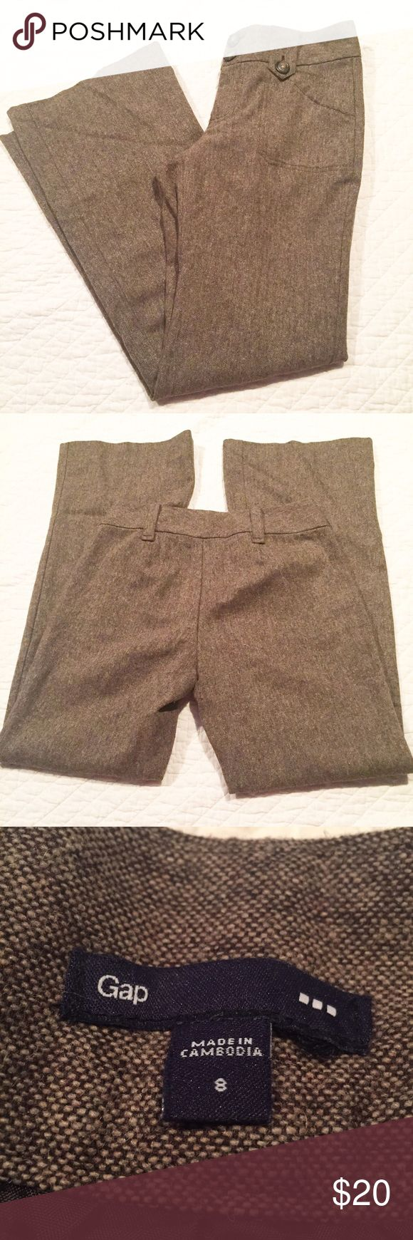 Gap Trousers Sz 8 Brown Gap trousers. Size 8. Brown color. Fully lined. 67% polyester 33% wool. VGUC GAP Pants Trousers