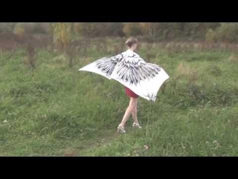 White angel wings, Silk Wings – white scarf - YouTube