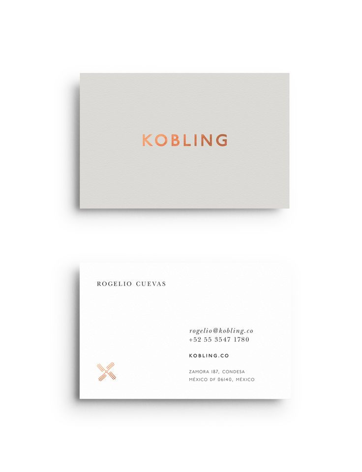 Visual identity and foiled business cards by Face for Kobling.