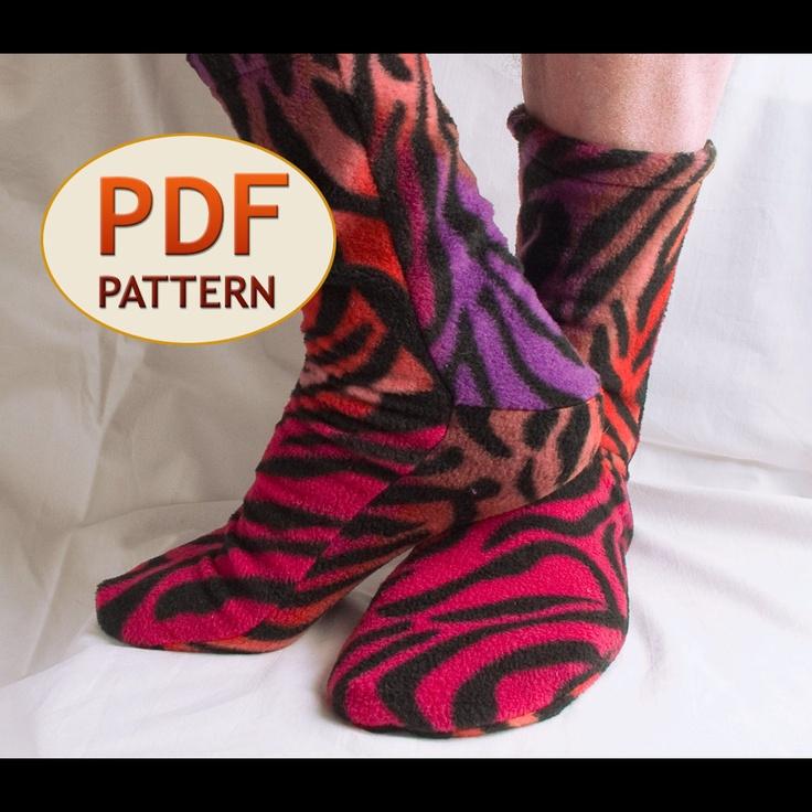 Irresistible image for free printable fleece sock pattern