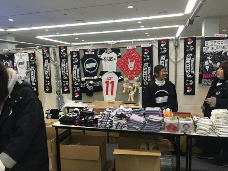 Seconds Of Summer Tour Merchandise