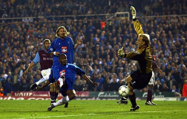 Birmingham City v Aston Villa: September 2002 - Clinton Morrison scores