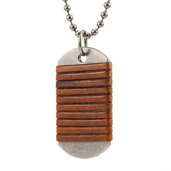 Men's Camel Brown Leather Necklace  Silver by UniqueLeatherJewelry, $17.90