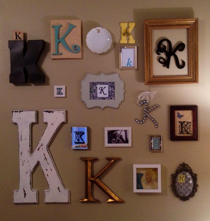 25 Best Ideas About Nursery Collage On Pinterest: 25+ Best Ideas About Monogram Wall On Pinterest