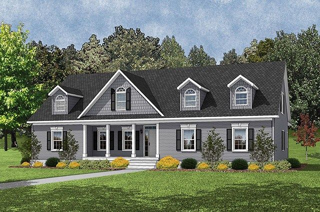 This modular home floor plan is one of our favorites! Check out the Builder 2855 • 58BUI42623BM • 2326 sq.ft • 3 Beds • 2 Baths  #home #design #porches