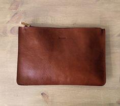 Kastanien Medium Brown Clutch Leder-Geldbörse... von MISOUI auf Etsy