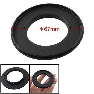 Gino 67mm Macro Metal Reverse Adapter Ring for Nikon Camera Mount by Gino. $5.92. This in Non-OEM product. Accessory Only;With this adapter, you can experiment by taking close pictures of various small items such as stamps, coins and insects etc;Simply screw the camera adapter on the bayonet of your camera's body, and then screw lens reversely on it.