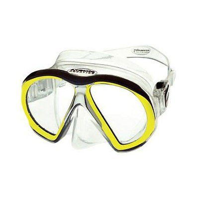 Atomic Aquatic subframe mask yel/clear scuba dive equipment snorkel diver gift
