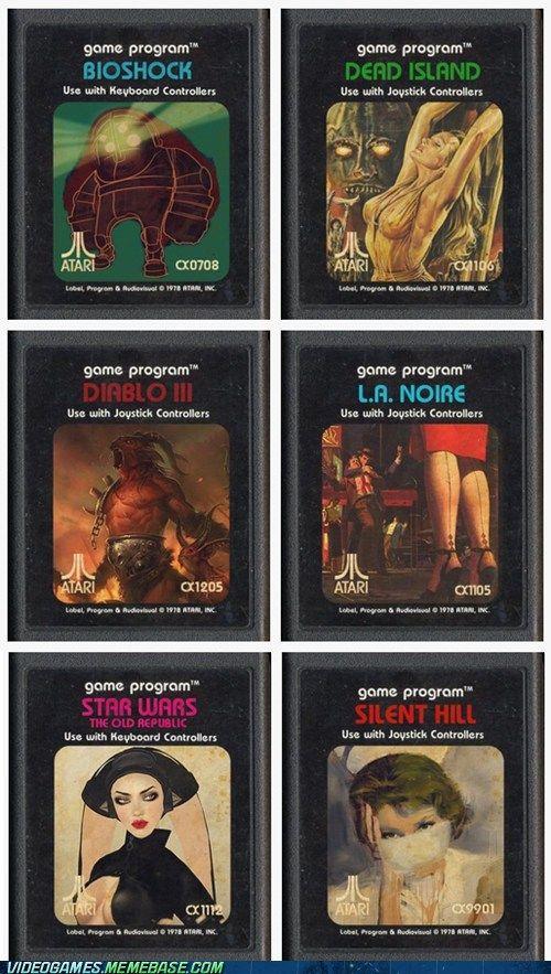 Retro Cartridges For Contemporary Games