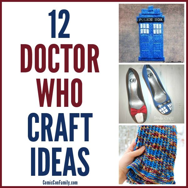 The best collection of Doctor Who Craft Ideas! Not only is there Doctor Who painted shoes, but jewelry, fez hats, embroidery, and more.