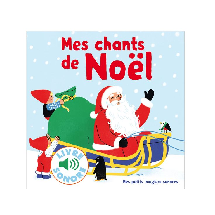 6 mots, 6 sons, 6 images. Pour les petits doigts, une puce électronique qui restitue les grands classiques de Noël : Petit Papa Noël, Noël russe, Mon beau sapin, Vive le vent, Une fleur m'a dit et Douce nuit.