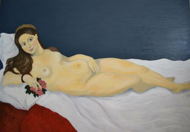 Nude (Tiziano), oil on canvas by Justyna molendowska-Ruiz