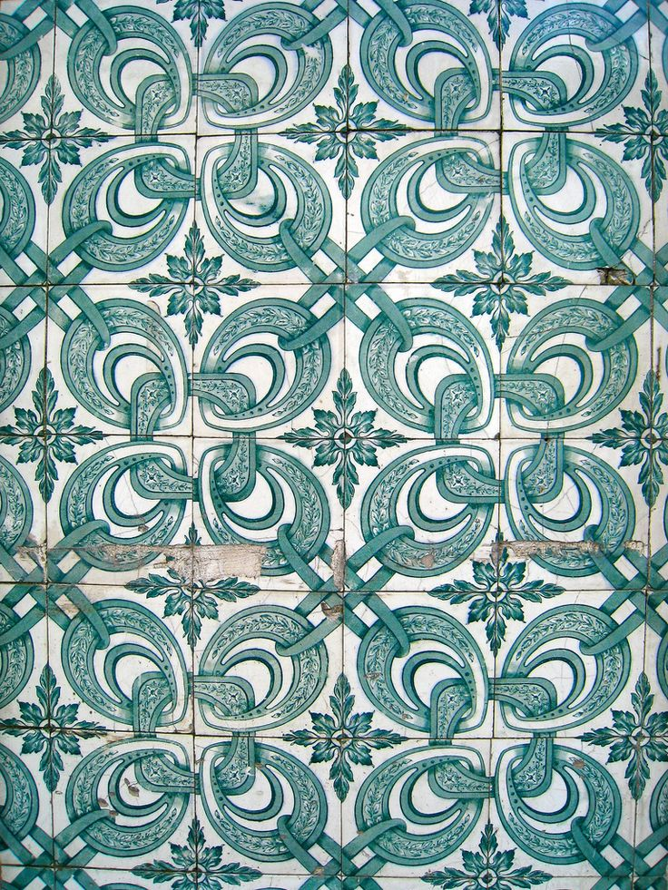 Tiles on the building wall, Lisbon, Portugal