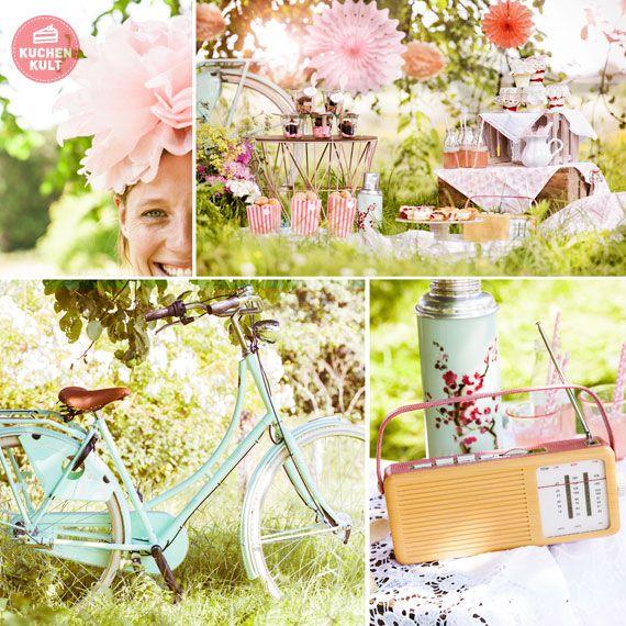 Süße Picknick Ideen Ob Kaffeekränzchen im Grünen oder romantisches Picknick mit Stil, wir haben süße Köstlichkeiten von Kuchen bis Desserts, hübsch verpackt, in die Kühlbox gepackt und unter blauem Himmel den Sommer genossen.