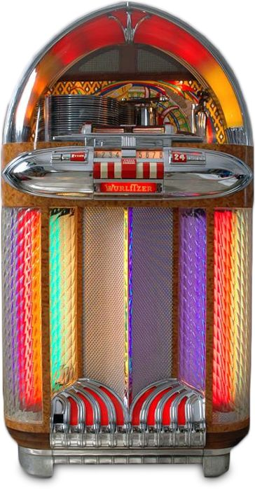 Jukebox London :: A 1948 Wurlitzer model 1100 Jukebox
