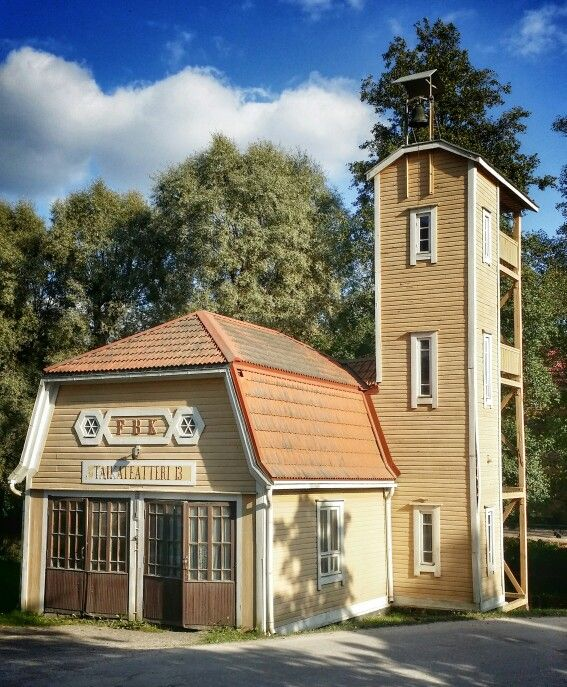 The old fire station in Fiskars, Finland (the pin via Shayla Charnett • https://www.pinterest.com/pin/437552920021855284/ )