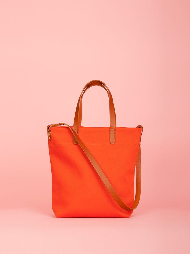 Walter - Pumpkin Canvas and Leather Bag, Mimi Berry SS16