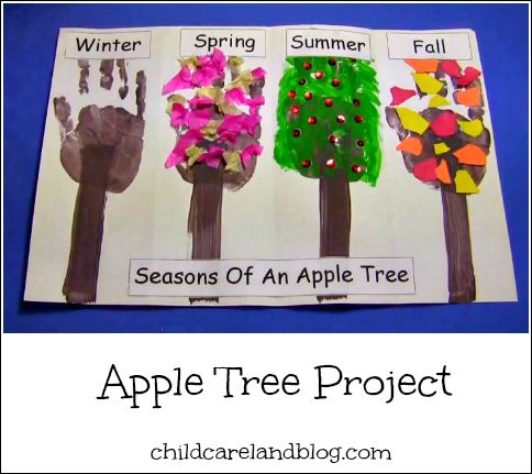Seasons Of An Apple Tree  - Pinned by @PediaStaff – Please Visit ht.ly/63sNtfor all our pediatric therapy pins