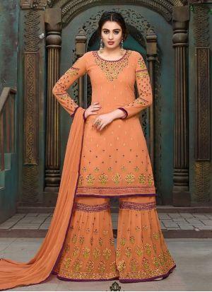4dadc54917 Transcendent Faux Georgette Designer Pakistani Suit