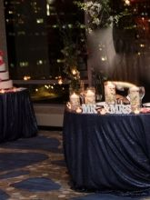 Three gorgeous navy sequin tablecloths for sale