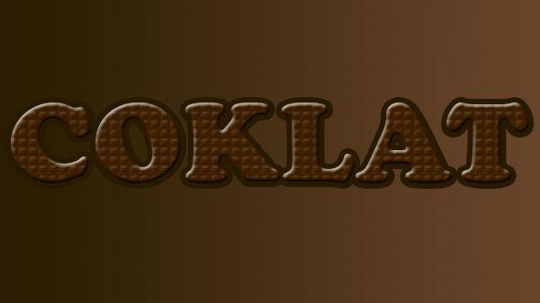 Cara Membuat Efek Teks Coklat Menggunakan Photoshop