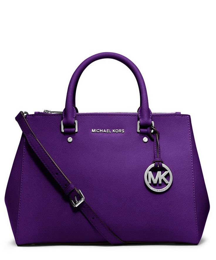 Sutton medium grape leather tote by Michael Kors on secretsales.com