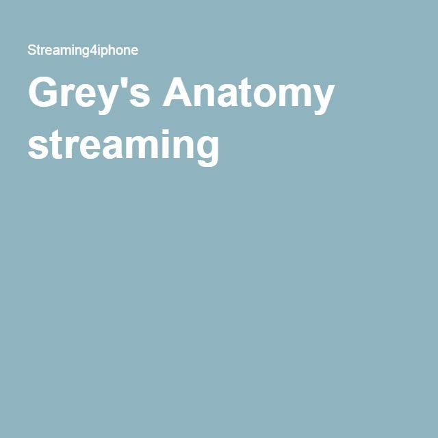 Grey's Anatomy streaming