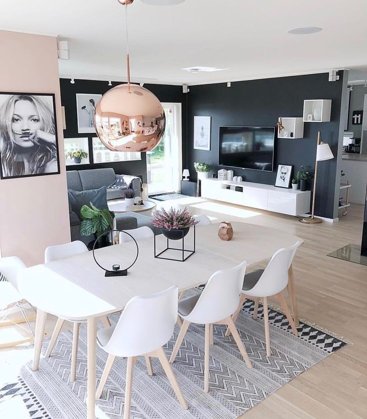 open concept ~ #openconcept #livingroom #diningroom #interiordesign #house