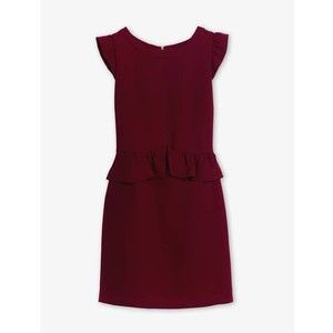 Sandro Robe Resonance dress in Bordeaux as seen on Ashley Benson