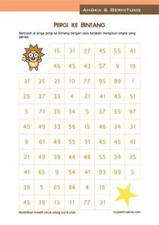 belajar matematika anak kelas 1 SD, labirin (maze) bilangan ganjil/genap