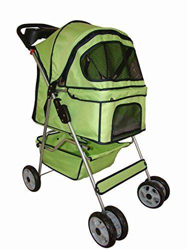 BestPet Pet Stroller Cat Dog 4 Wheel Walk Travel Folding Carrier W/Rain Cover - http://dogramp.org/product/bestpet-pet-stroller-cat-dog-4-wheel-walk-travel-folding-carrier-w-rain-cover/