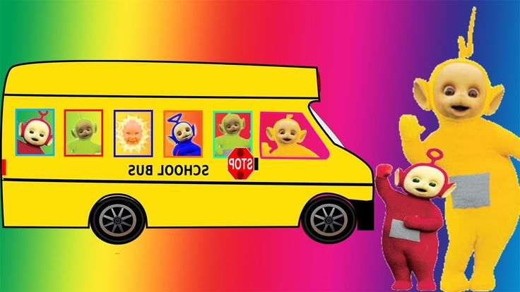 Teletubbies Wheels On the Bus Go Round and Round Song Nursery Rhymes