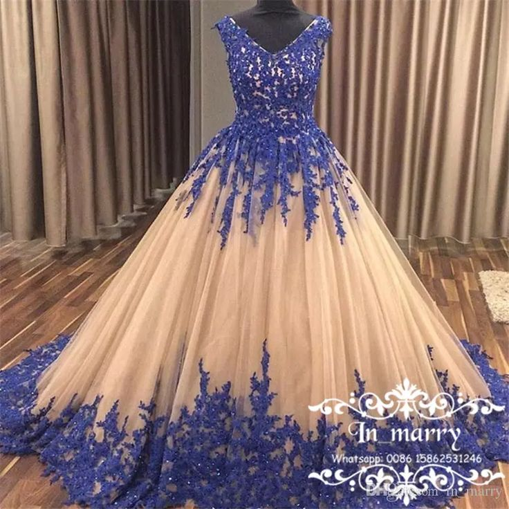 2017 Champagne Ball Gown Arabic Prom Dresses Royal Blue Vintage Lace Tulle Sequins Sweet 16 Quinceanera Evening Party Gown for African Women Vintage Lace Prom Dresses Ball Gown Prom Dresses Arabic Quinceanera Gowns Online with $226.86/Piece on In_marry's Store | DHgate.com