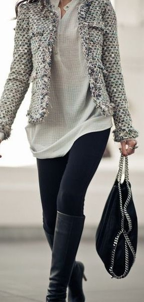 Yes, ladies - we support the leggings as pants trend, especially when it's a great pair of ponte leggings! Pair these with tunic blouses, (they cover just the right amount) beautiful jackets and a pair of tall boots for a super chic look that will work for the office and happy hour! Where would you sport this look?