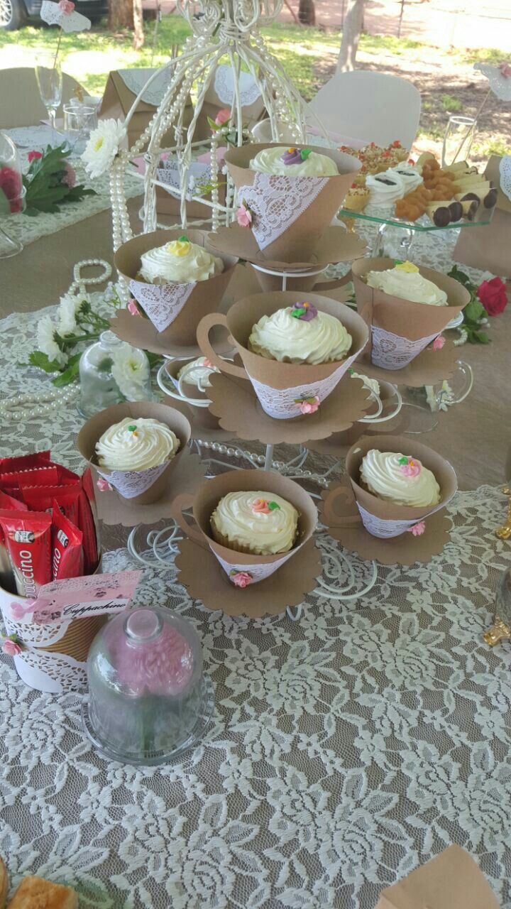 DIY Paper Tea Cup Cupcake wrappers.