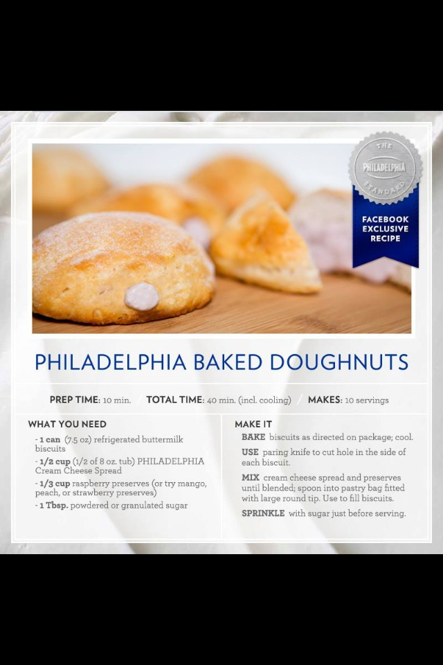 Philadelphia Cream Cheese Doughnuts