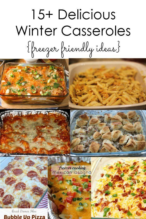 Delicious Winter Casserole Ideas :: During the winter time, it is nice to serve delicious comfort food that is easy to make like casseroles. Many of these dishes are also freezer friendly so you can prepare ahead of time and cook when it is convenient. I have put together over 15 casseroles that I think would be great for winter