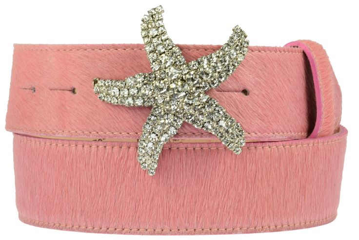 Pink cowhide belt £75 Swarovski starfish buckle £75