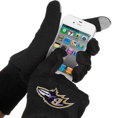 McArthur Baltimore Ravens Touch Gloves - Black