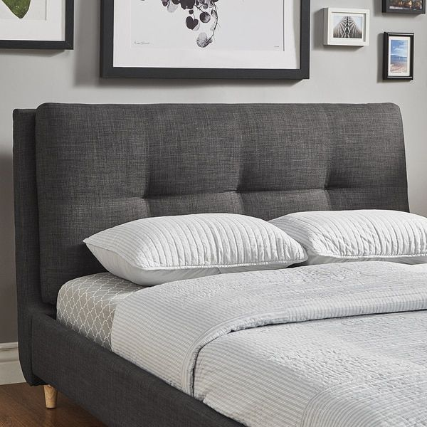 Dallan Plush Tufted Padded Headboard Bed By Inspire Q