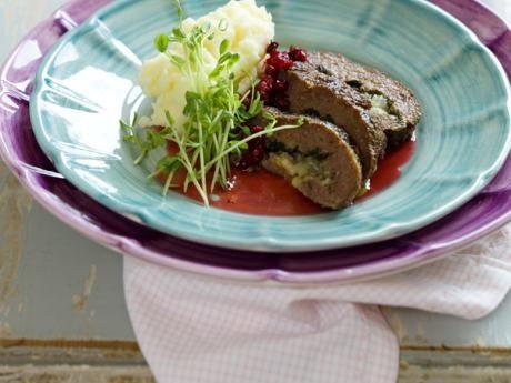 Köttfärslimpa med potatismos