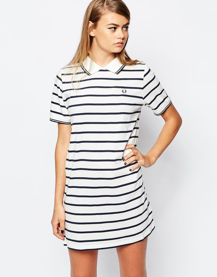 Image 1 of Fred Perry Striped Polo Dress