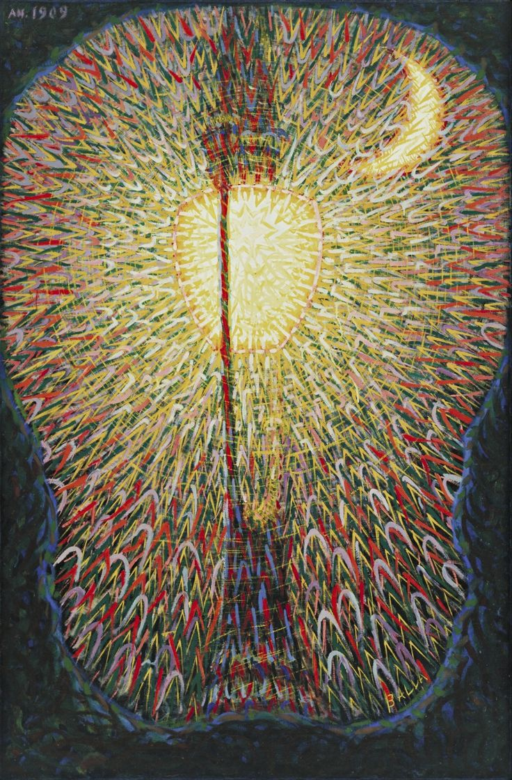 Giacomo Balla. Street Light. c. 1910-11 (dated on painting 1909)